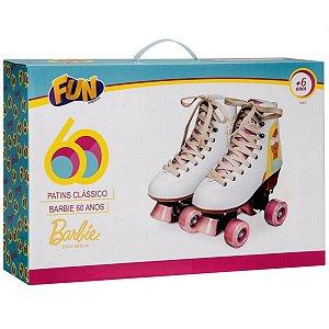 Patins Classico Ediçao da Barbie 60 anos 35-36 da Fun 84529