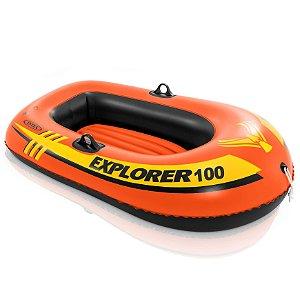 Boia Inflavel Bote Explorer 100 Infantil 55 Kg Intex 58329