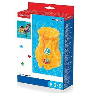 Colete Inflavel Infantil Amarelo Bestway Fisher Price 93515