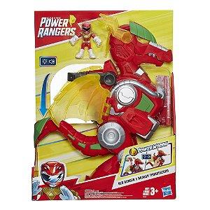 Power Rangers Zord Dragao Vermelho Eletronico Hasbro E5865