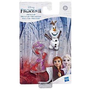 Brinquedo Mini Figura Basica Frozen 2 Olaf e Gale 10cm E8056
