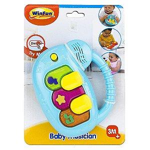 Brinquedo Musico Bebe Teclado com Som e Luzes WinFun 000640