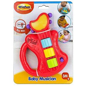 Brinquedo Musico Bebe Guitarra com Som e Luzes WinFun 000641
