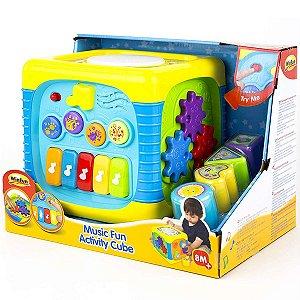 Brinquedo Infantil Cubo de Atividades Musical WinFun 000741