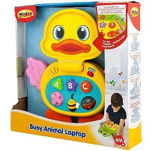 Brinquedo Laptop Baby Patinho com Sons e Luzes WinFun 8000