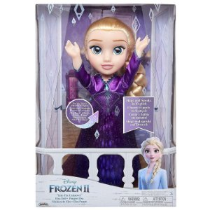 Boneca Frozen 2 Elsa que Canta com Vestido Roxo Mimo 6482