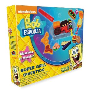 Massinha Nickelodeon Bob Esponja Super Grill Divertido 1122