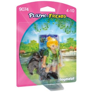 Figura Playmobil Playmo Friends Menina e Gorila Sunny 1197