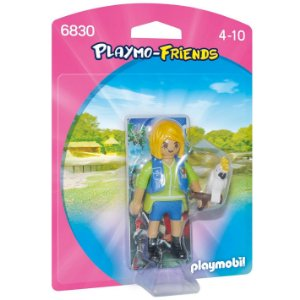 Figura Playmobil Playmo Friends Menina e Cacatua Sunny 1197