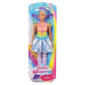 Boneca Barbie Dreamtopia Fada de Cabelo Azul Mattel Fxt00