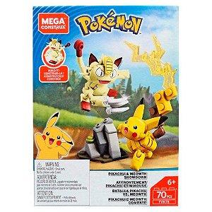 Mega Construx Pokemon Pack de Combate Pikachu e Meowth Fvk78
