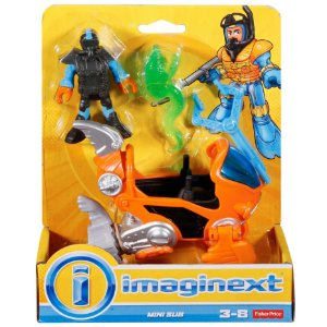 Imaginext Oceano Figura Mergulhador e Mini Submarino Dfy01