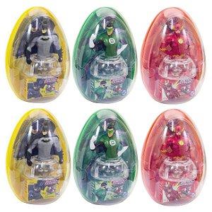 Caixa Liga da Justiça com 6 Ovo Big Toys Candy Fun Dtc 4051