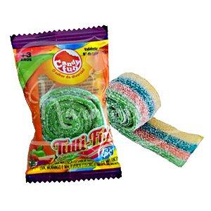 Doce Bala de Goma Acida Tutti Fita Candy Fun Unitario 3749