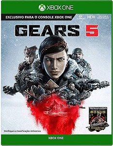 Jogo Portugues Gears Of War 5 Xbox One Mídia Física Lacrado