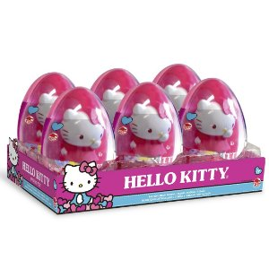 Doce e Figura Hello Kitty Ovo Big Toy Caixa com 6 Dtc 4043