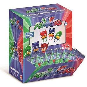 Doce Pirulito Anel Fun Pop Pj Masks Caixa com 32 da Dtc 4302