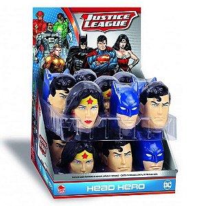 Doce Liga da Justiça Head Hero Caixa com 18 Sortido Dtc 4382