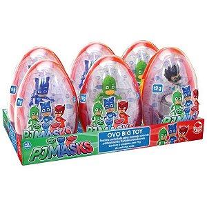 Doce e Figura Pj Masks Ovo Big Toy Caixa com 6 Sortidos 4999