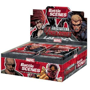 Box Booster Marvel Battle Scenes Iniciativa Vingadores Copag
