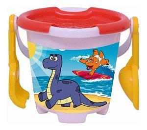 Brinquedo Infantil Xalingo Baldinho De Praia Fofossauros