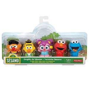 Conjunto Vila Sesamo de 5 Mini Figuras Turminha Sesamo Ftc38