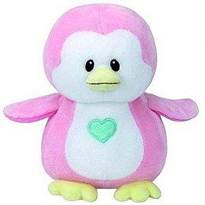 Novo Brinquedo Pelucia Penny Pinguim Rosa Baby Ty Dtc 4318