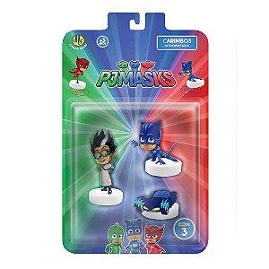 Brinquedo Carimbo Pj Masks com 3 Personagens Sortidos 4463