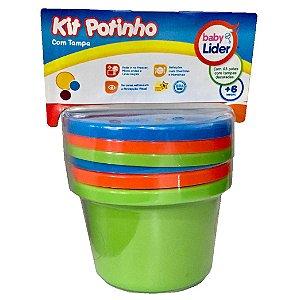 Kit Potinho com 3 Potes com Tampa Infantil Baby Lider 5676