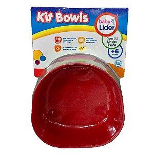 Kit Potinho Vasilha Bowls Colorido Infantil Baby Lider 5671
