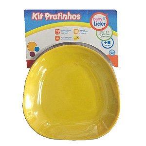 Kit Pratinhos de Plastico Coloridos Infantil Baby Lider 5677