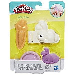 Massinha Play Doh Mini Mascotes Bunny Coelhinho Hasbro E2124
