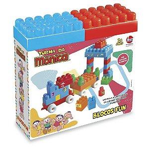 Brinquedo Blocos de Montar Turma da Monica Blocos Fun 2803