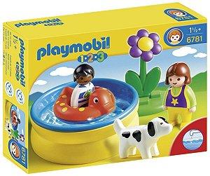 Brinquedo Playmobil 1 2 3 Piscina Infantil Original 6781