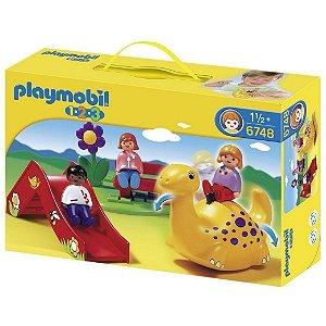 Brinquedo Playmobil 123 Playground Parquinho Infantil 6748