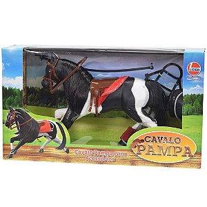 Brinquedo Figura Cavalo Pampa Preto e Branco da Lider 2461