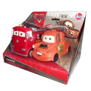 Brinquedo Veiculo Disney Pixar Carros Bombeiro e Mate 629