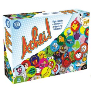 Jogo de Tabuleiro com Figuras Achei da Nig Brinquedos 0579