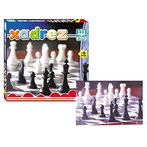 Jogo de Tabuleiro Mini Xadrez Infantil Nig Brinquedos 0204