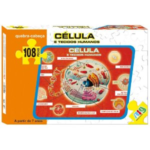 Quebra Cabeça Celula e Tecidos Humanos Nig Brinquedos 0286