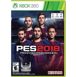 Jogo Novo Mídia Física Raridade Pes 2018 Para Xbox 360