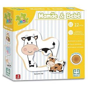Brinquedo Jogo de Encaixe Mamae e Bebe Nig Brinquedos 0413