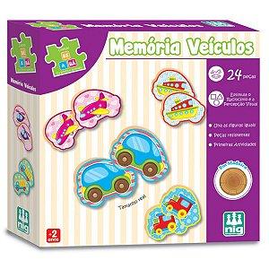 Jogo de Encaixe Memorias de Veiculos da Nig Brinquedos 0414