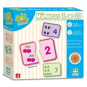 Jogo de Encaixe Infantil Numeros 1 a 10 Nig Brinquedos 0415