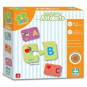 Jogo de Encaixe Descobrindo o Alfabeto Nig Brinquedos 0421