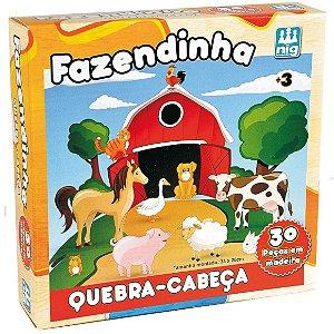Quebra Cabeça Fazendinha com 30 Peças Nig Brinquedos 0424
