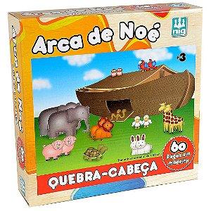Quebra Cabeça Arca de Noe com 60 Peças Nig Brinquedos 0425