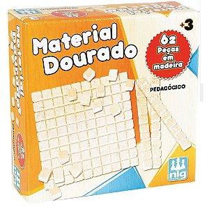 Kit Didatico Material Dourado 62 Peças Nig Brinquedos 0426