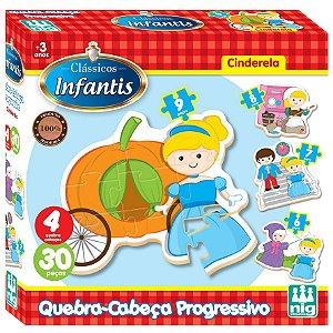 Quebra Cabeça Progressivo Cinderela da Nig Brinquedos 0430