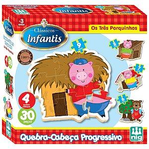 Quebra Cabeça Infantil Os 3 Porquinhos Nig Brinquedos 0432